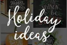 Chalk Art Holiday Ideas / Creative and fun chalkboard art for the holidays!