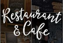 Chalk Art Restaurant Ideas / Spice up your bar or restaurant with unique chalkboard menus, tables, walls, and so much more!