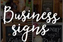 Chalk Art Business Signs