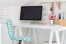 For the Home Office / Tips, styles and looks for an awesome home office.
