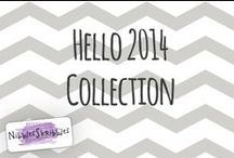 Nibbles Skribbles Hello 2014 Collection / A fun collection of monthly mini kits and add ons - coming to you throughout 2014 / by Nibbles Skribbles