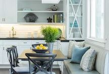 KITCHEN / Meals and memories are made here. Follow if you like to eat your food in a pretty kitchen.