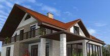 Мои фасады / Решения в архитектуре и дизайне при проектировании и строительстве частных домов