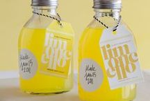 Yellow Limoncello or Apple Green Party Theme / Morning tea parties, birthday parties, 1st birthday parties.