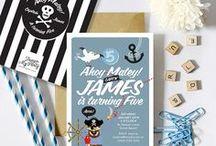 Pirate Birthday Party Theme / Pirate invitations, pirate birthday party