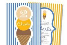 Ice Cream Party theme / Ice cream Party Theme including ice cream invitations, ice cream cupcake toppers, ice cream thank you tags and decorations