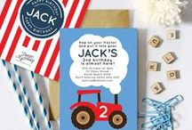 Tractor Party Theme / Tractor party invitations