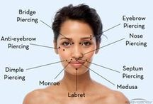 Types of Piercings / Infographics/Images showing the many different types of Piercings available