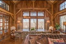 Timber Frame Homes - Interiors / Homestead Timber Frames: Timber Frame Home Interiors - Oak - Craftsman
