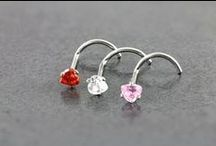 Nose (Bones, Screws,Fishtails) / Add some sparkle to your nose with the Purely Piercings range of Nose Studs, Rings and Bars. Styles including; Nose Retainers, Solid Gold Studs, Jewelled studs, Sterling Silver, Titanium, Bioflex and Gold & Diamond.  https://www.purelypiercings.co.nz/nose