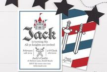 Knight Theme / Knight Invitations, party styling ideas, knight costumes and cakes