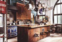 Kitchen / Industrial bohemian kitchen inspiration