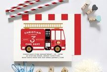 Vintage Fire Engine Birthday Party