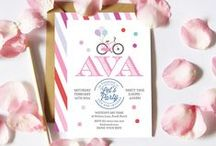 Bicycle Theme Party / Bicycle Invitations, Cupcake Toppers, Bunting flags, water labels