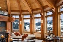Timber Frame Interior Design and Decor Inspiration / Design inspiration for your timber frame home. Beautiful. warm, rustic and uncommon ideas that make a house a home.