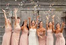 the bride and her bridemaids
