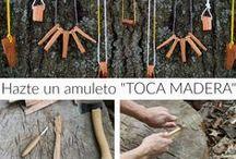 """Madera-Wood """"Toca madera"""" / Bisuteria realizada en madera, amuletos """"toca madera"""", inspiracion, tutoriales, proyectos, diys..."""