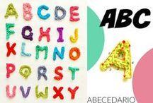 Abecedario crochet letras / Abecedario crochet letras 3D amigurimis / by Enrhedando Yolanda