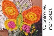 Mariposas Crochet / patrones y tutoriales solo de mariposas tejidas