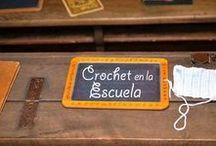 Crochet-ganchillo colegios / Tejidos a ganchillo o crochet también tricot que se pueden utilizar para ir al colegio o llevar a la escuela, y relacionado.
