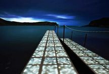 Outdoor Led lighting / Modular, LED-illuminated structural decking system