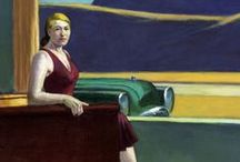 Edward Hopper & Inspired / Kunst von Edward Hopper und von ihm inspirierten Designern, Fotografen und Malern. Fazit: Oft kopiert, nie erreicht!