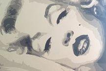 Marilyn MONROE - Pop Art d'Olivier R. / Peintures sur toiles, en acrylique