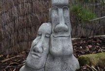 Garden Sculptures / Garten-Skulpturen / Idea collection for artistic objects for garden and front garden, which could be implemented by DIY / Ideensammlung für künstlerische Objekte für Garten und Vorgarten, die man so oder ähnlich selbst umsetzen könnte