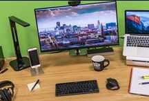 Best Home Office Tech & Apps / You don't need the thinnest, lightest, or most elegantly designed items for your home office. In the space you make your living, you want reliable, comfortable, efficient tools—though it doesn't hurt if they look nice, too.