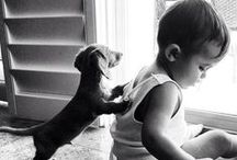 Cute Kids & Pets / Only in Black & white photographies