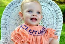 Clemson Tigers / Go Tigers! Beautiful Clemson Hand Smocked and Embroidered Clothing for kids by Vive La Fete!  / by Collegiate For Kids