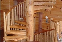 Log staircases / Spiral staircases and other home decor in all it's natural beauty if you see it some place we can maybe possibly get it here www.spirallogstairs.com