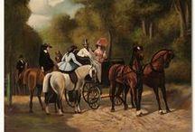 Horses & Carriages / Una variedad de cuadros dónde el caballo es el protagonista. / by Bruggens Art