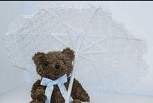 Teddy bear Babyshower Decoration / Decoraçāo para Chá de bebe de ursinho / Blue Brown Polka dotes decoration for baby shower boy / Decoraçāo Marrom e azul com bolinhas para decoraçāo para chá de bebe para meninos