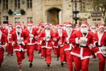 Santas on the Run / Our Santas on the Run is a sight to behold.  Hundreds of Santas take part in this festive fun run across the South West.  Adults, children, and even the family pets, take to the streets dressed as Santa in this gloriously colourful festive 2k run. Entry includes Santa suit, medal and festive treats.  To find out how you can be part of this years events visit our website> www.chsw.org.uk/santas #festive #santas #familyfun