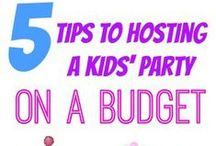 Kids Parties On A Budget / Ideas For Kids Birthday Parties On A Budget