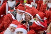 Santas on the Run Bristol 2014 / More than 1600 Santas, young and old, donned their red suits and white beards and took to the Streets of Bristol to raise money for Children's Hospice South West.  #CHSW #CHSWSantas #SantasontheRun #SantasBristol.