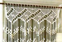 rideaux, crochet, dentelle