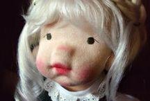 Lavande et poupées / Presenting my hand made Natural Fiber Art Dolls!!!