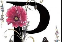 letras, abecedario y calendarios / by Paulina Marcoleta