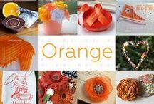 Orange - #CraftBuzz / A lovely orange selection from our talented #CraftHour followers! ***PLEASE NOTE Only 3 pins, per pinner, per day please, so there's a good variety.***