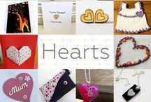 Hearts - #CraftBuzz / A collection of beautiful crafts from our friends all featuring hearts! ***PLEASE NOTE Only 3 pins, per pinner, per day please, so there's a good variety.***