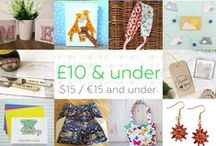 £10 & under - Craft Hour / Beautiful handmade gifts priced £10 and under. Currently this is approx. $15 / €15 but do feel free to check current conversions if you wish. We don't mind a small margin of error but please don't post items that are way off the price category or you will be removed, we have lots of other boards that will fit your price range instead! ***PLEASE NOTE Only 3 pins, per pinner, per day please, so there's a good variety.*** / by Craft Hour