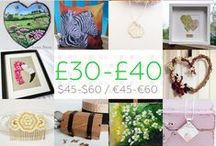 £30-£40 - #CraftBuzz / Beautiful handmade gifts in the £30-£40 price bracket. Currently this is approx. $45-$60 / €45-€60 but do feel free to check current conversions if you wish. We don't mind a small margin of error but please don't post items that are way off the price category or you will be removed, we have lots of other boards that will fit your price range instead! ***PLEASE NOTE Only 3 pins, per pinner, per day please, so there's a good variety.***