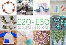 £20-£30 - #CraftBuzz / Beautiful handmade gifts in the £20-£30 price bracket. Currently this is approx. $30-$45 / €30-€45 but do feel free to check current conversions if you wish. We don't mind a small margin of error but please don't post items that are way off the price category or you will be removed, we have lots of other boards that will fit your price range instead! ***PLEASE NOTE Only 3 pins, per pinner, per day please, so there's a good variety.***