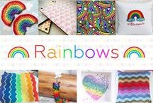 Rainbows - #CraftBuzz / Gorgeous rainbow-coloured handmade products and those featuring rainbows! ***PLEASE NOTE Only 3 pins, per pinner, per day please, so there's a good variety.***