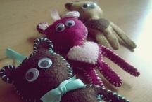 What I made: Felt Monsters