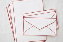 Letterhead, card, paper / letter papers, pens