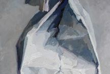 Grade 10 drawing exam ideas / A 3 hour practical drawing exam, neck tie, crumpled paper bag, natural/found objects