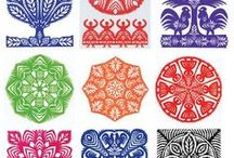 POLAND: wycinanki / papercut art from Poland: the so-called Slavic mandalas